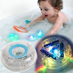 Caseometry Upgraded Light-up Toy Waterproof for Kids Durable Floating Safe for Baby with Instruc ...
