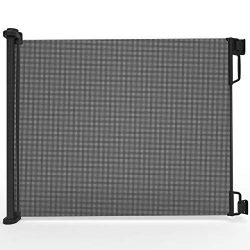 """Perma Child Safety Outdoor Retractable Baby Gate, Extra Wide up to 71"""", Black"""