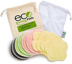 Washable Reusable Bamboo Nursing Pads | Organic Bamboo Round Breastfeeding Pads, Ultra-Soft Velv ...