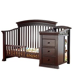 Sorelle Verona Crib and Changer Toddler Rail, Espresso