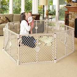 North States 256″ Superyard Indoor-Outdoor 8-Panel Play Yard: Safe play area anywhere &#82 ...