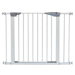 Walk Thru Baby Gate,Safety Gate Metal Expandable Baby Pet Safety Gate Auto-Close with Pressure M ...