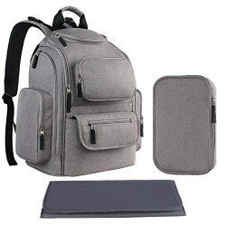 Diaper Backpack Bag for Mom, Multi-Function Large Travel Backpack for Women, Men, Maternity Napp ...