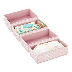 mDesign Soft Fabric Dresser Drawer and Closet Storage Organizer for Child/Kids Room or Nursery & ...