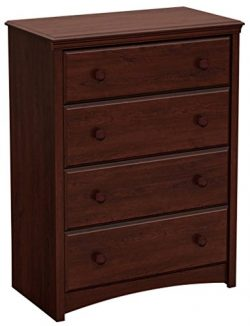 South Shore Sweet Morning Collection 4-Drawer Chest, Royal Cherry