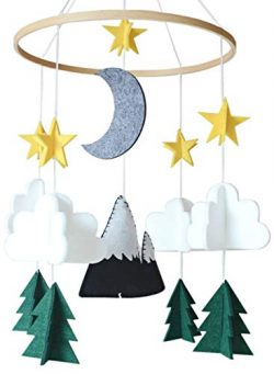 Baby Crib Mobile by Sorrel & Fern- Starry Woodland Night Nursery Decoration | Crib Mobile fo ...