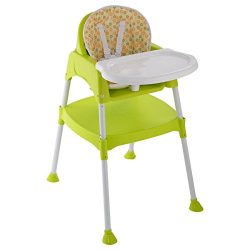 Costzon Convertible High Chair, 3 in 1 Table and Chair Set, Snacker High Chair Seat, Toddler Boo ...