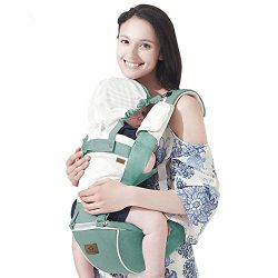 Bebamour New Style Designer Sling and Baby Carrier 2 in 1,Approved by U.S. Safety Standards,Green