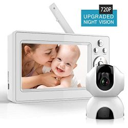 Bable Baby Monitor with Camera, 5 Inch 720P Video Baby Monitor with Infrared Night Vision Camera ...