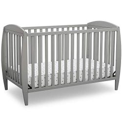 Delta Children Archer 4-in-1 Convertible Baby Crib, Grey