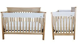Crib Wrap 3PC Rail Cover Set By Trend Lab – 1- 51″ Front Rail Cover 2- 27″ Sid ...