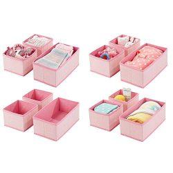 mDesign Soft Fabric Dresser Drawer and Closet Storage Organizer for Kids/Toddler Room, Nursery,  ...