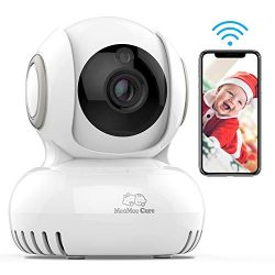 WiFi Baby Monitor with Camera and Audio – Lullaby Player, Home Security WiFi Camera for Na ...