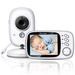 Govee 3.2 Inch Video Baby Monitor 2.4GHz Wireless Long Range with Digital Camera by Minger, Infr ...