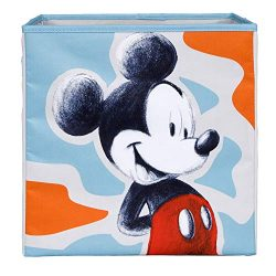 Everything Mary Mickey Mouse Collapsible Storage Bin by Disney – Cube Organizer for Closet ...