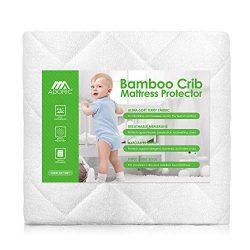 Crib Mattress Protector, Baby Crib Mattress Cover, Waterproof Mattress for Baby Premium Hypoalle ...
