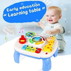 HOMOFY Baby Toys Musical Learning Table 6 Months up Early Education Activity Center Multiple Mod ...