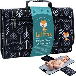 Portable Diaper Changing Pad by Lil Fox | Waterproof Portable Changing Pad for Moms, Dads and Ba ...