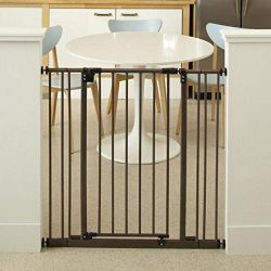 North States 38.5″ Wide Extra-Tall Easy-Close Baby Gate: Equipped with triple locking syst ...