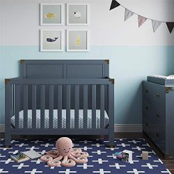 Baby Relax Baby Relax Miles 5-in-1 Convertible Crib, Graphite Blue, Graphite Blue