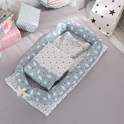 Toys Studio Baby Bassinet for Bed Portable Baby Co-Sleeping Cribs & Cradles Lounger Cushion  ...