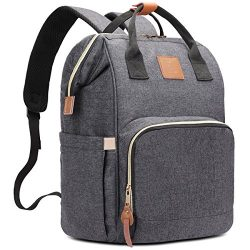 HaloVa Diaper Bag Multi-Functional Portable Travel Backpack Nappy Bags for Baby Care, Water-Resi ...