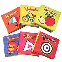 TOP BRIGHT Baby Toys 6 to 12 Months – Soft Crinkle Baby Books for Infants Girl Toy for 1 Y ...