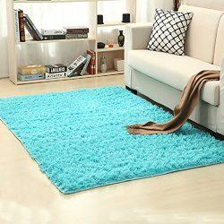 Super Soft Indoor Modern Shag Area Silky Smooth Fur Rugs Fluffy Anti-skid Shaggy Area Rug Dining ...