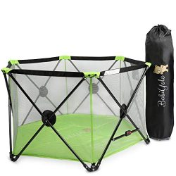 Baby Pack and Play Playpen Yard: Portable Travel Play Pen for Babies – Green