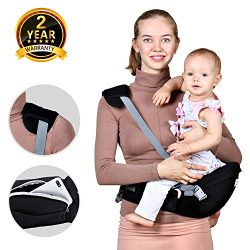 Baby Hip Seat Carrier Waist Stool – Safety Certified Back Pain Relief Soft Carrier (Ergonomic M  ...