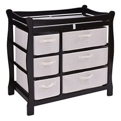 Costzon Baby Changing Table, Infant Diaper Changing Table Organization, Newborn Nursery Station  ...