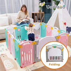 Foldable Baby Playpen Kids Activity Centre Safety Play Yard Home Indoor Outdoor New Version