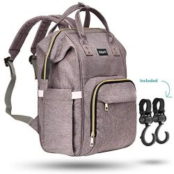 Zuzuro Diaper Mommy Bag – Waterproof Backpack w/Large Capacity & Multiple Pockets for  ...