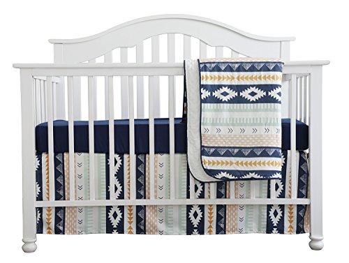 Baby Boy Crib Bedding Arizona Woodland Tribal Aztec Buck Nursery Crib Skirt Set Minky Blanket Na ...