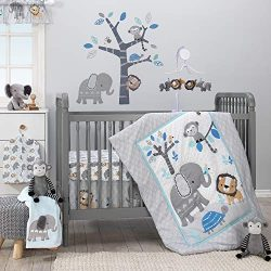 Bedtime Originals Jungle Fun 3-Piece Crib Bedding Set