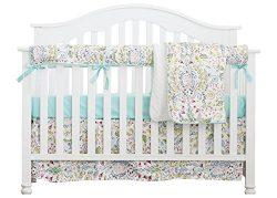 Boho Chic Coral Floral Ruffle Baby Minky Blanket Watercolor, Peach Floral Nursery Crib Skirt Set ...