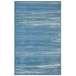 Evolur Home Cape May Waterfall Nursery Rug 70'x52′ in Caribbean Blue