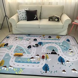 Play Mat for Baby Grey Area Rug Foam Play Mat Living Room Floor Mats Baby Crawling Mats Climbing ...