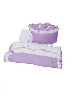 Baby Doll Bedding Regal Cradle Bedding Set, Lavender