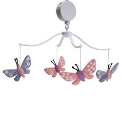 Bedtime Originals Butterfly Meadow Pink/Purple Musical Baby Crib Mobile