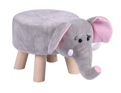 LITTLE POPI, Children's Favorite Animal Ottoman, Kids Footrest Stool, Plush Ride on Seat, Remova ...