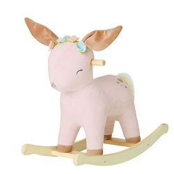 【New】Labebe Baby Rocking Horse Plush, Female Deer Rocker Toy for Child 1-3 Years, Fawn Rocking ...