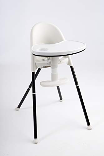 Primo Cozy Tot Deluxe Convertible Folding High Chair & Toddler Chair – Black, Black/White