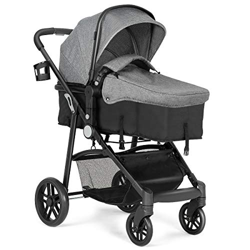Costzon Baby Stroller, 2 in 1 Convertible Carriage Bassinet to Stroller, Pushchair with Foot Cov ...