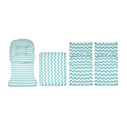 Storkcraft Hoop Glider and Ottoman Replacement Cushion Set– Stylish Cushion Replacement Set for  ...