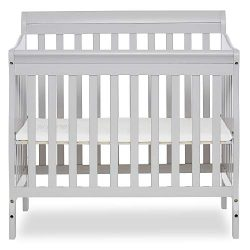 Dream On Me Aden Convertible 4-in-1 Mini Crib, Grey