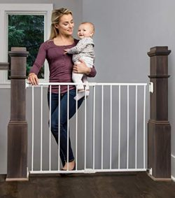 Regalo Extra Wide 2-in-1 Stairway and Hallway Safety Gate with Mounting Kit