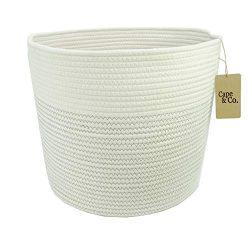 Cape & Co. Nursery Storage Basket – Woven Rope Bin and Organizer 17″ x 14.7&#824 ...