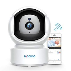 Baby Monitor Camera, Taococo IP Camera Wireless 1080P HD Home Security Camera for Baby Elder Pet ...