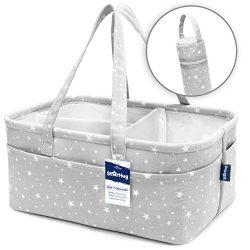 Stylish Baby Diaper Caddy Organizer – Large Nursery Storage Bin for Changing Table | Car T ...